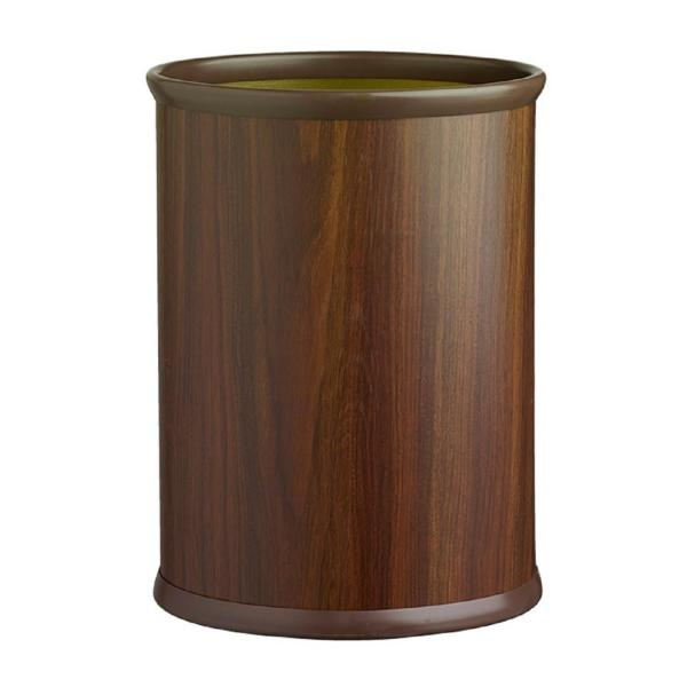 Woodcraft Walnut 13 qt. Oval Waste Basket