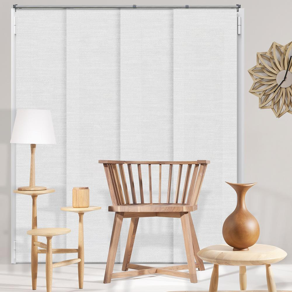 Panel Track Blinds Birch White Polyester Cordless Vertical Blinds - 80