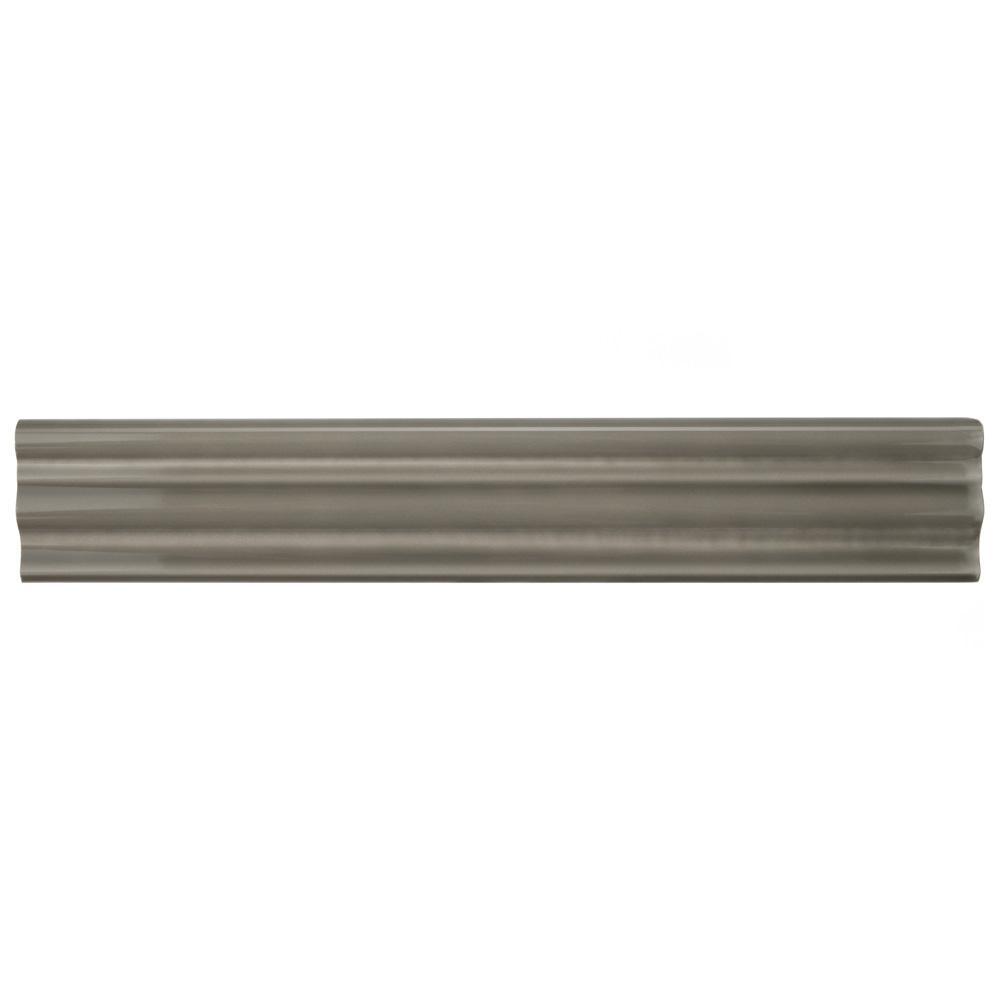 Merola Tile Chester Grey 2 In. X 12 In. Chair Rail Ceramic