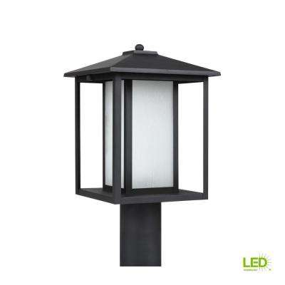 Hunnington 1-Light Outdoor Black Post Light with LED Bulb