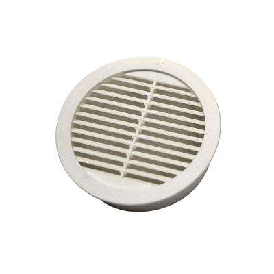 2 in. Resin Circular Mini Wall Louver Vent in White (6-Pack)