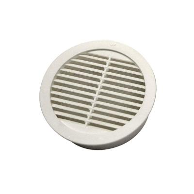 4 in. Resin Circular Mini Wall Louver Soffit Vent in White (4-Pack)