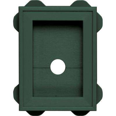 5.0625 in. x 6.75 in. # 028 Forest Green Wrap Around Universal Mounting Block
