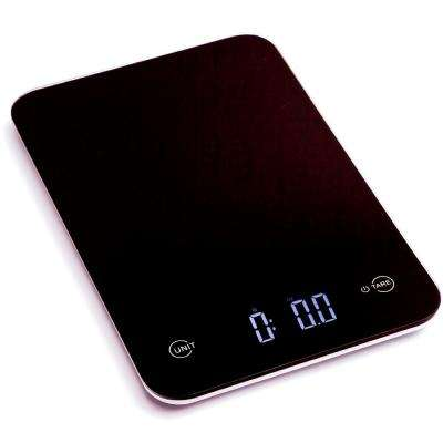 Touch Professional Digital Kitchen Scale (12 lbs. Edition), Tempered Glass in Elegant Black