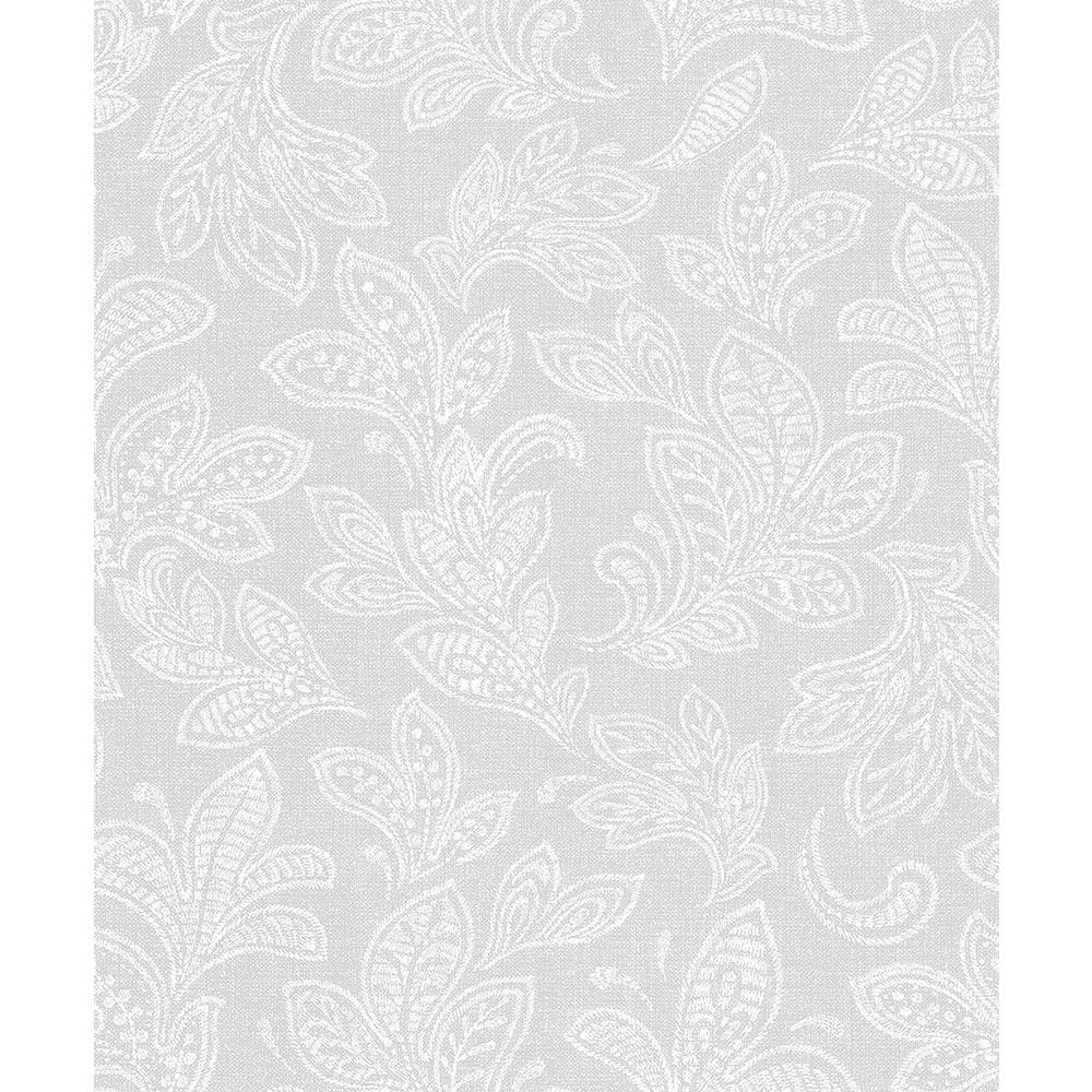56.4 sq. ft. Ida Bone Scroll Wallpaper