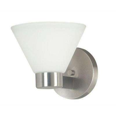 Maxwell 1-Light Brushed Steel Sconce
