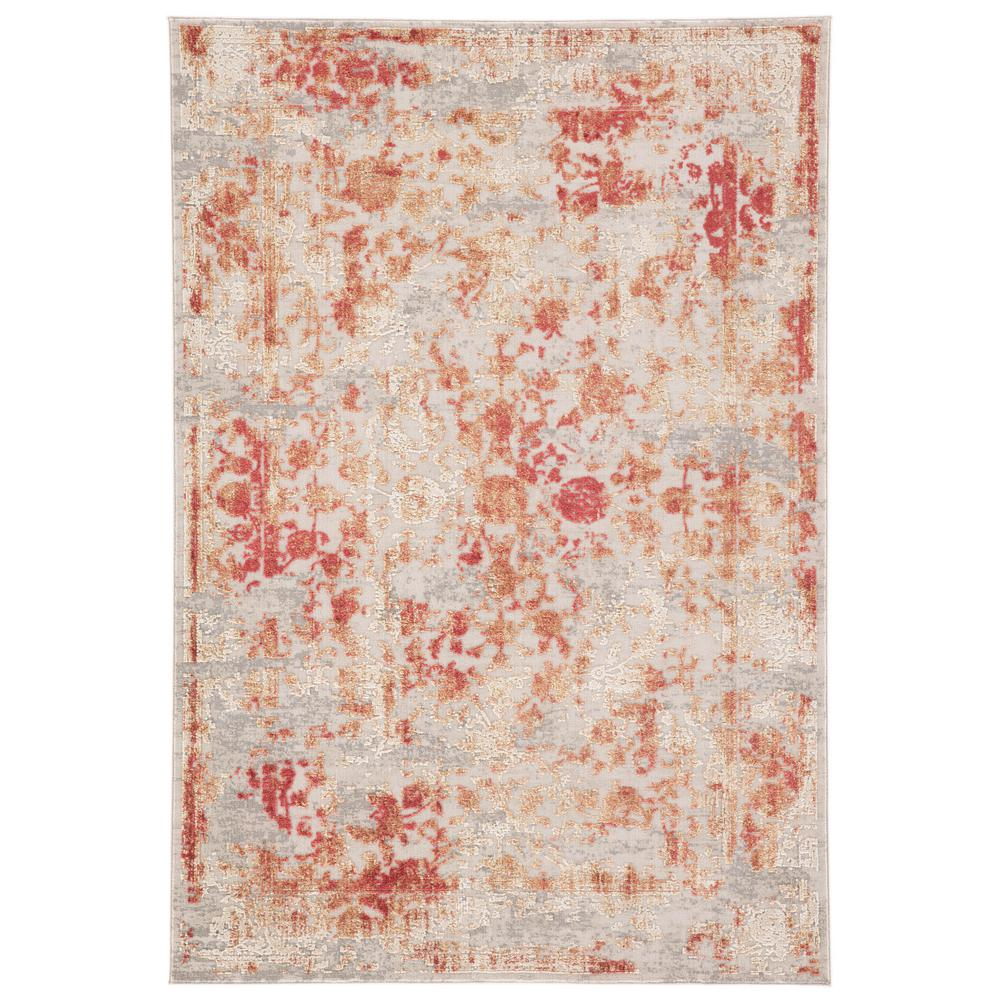 Jaipur Living Cirque Red 9 ft  x 12 ft  Floral Rectangle Area Rug