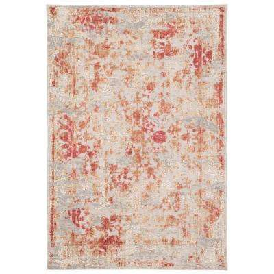 Cirque Red 9 ft. x 12 ft. Floral Rectangle Area Rug