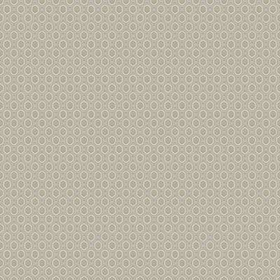 8 in. x 10 in. Ambassador Grey Geometric Wallpaper Sample