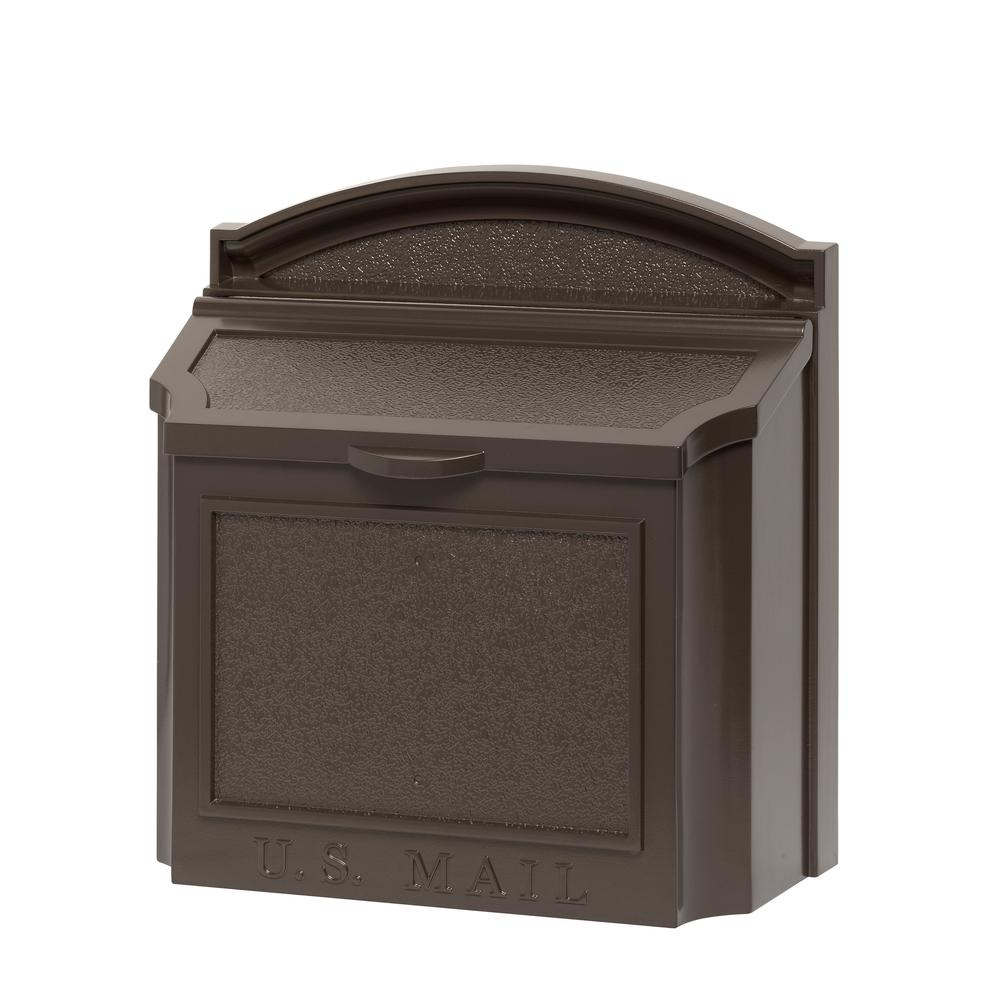 Whitehall Products Whitehall Products French Bronze Wall Mailbox