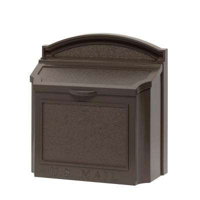 French Bronze Wall Mailbox