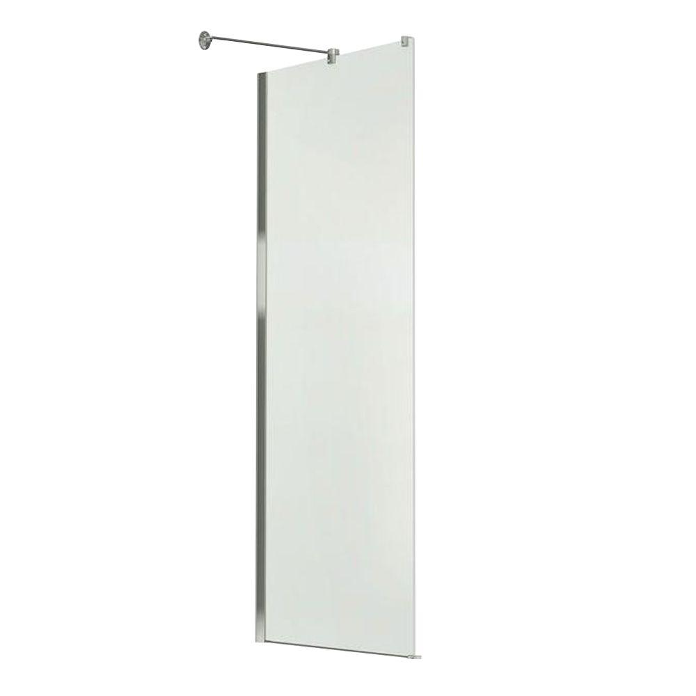 MAAX Reveal 29.8 in. x 71.5 in. Frameless Side Glass Panel in Chrome