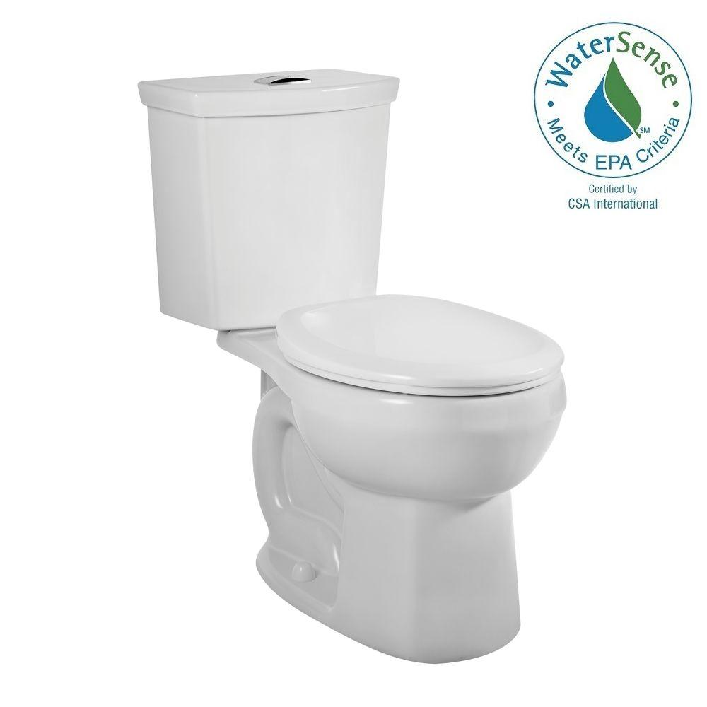 American Standard H2Option 2-piece Siphonic 1.6/1.0 GPF Dual Flush Round Front Toilet in White