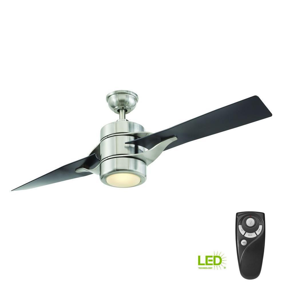 Grenada 52 in. LED Indoor Brushed Nickel Ceiling Fan with Light