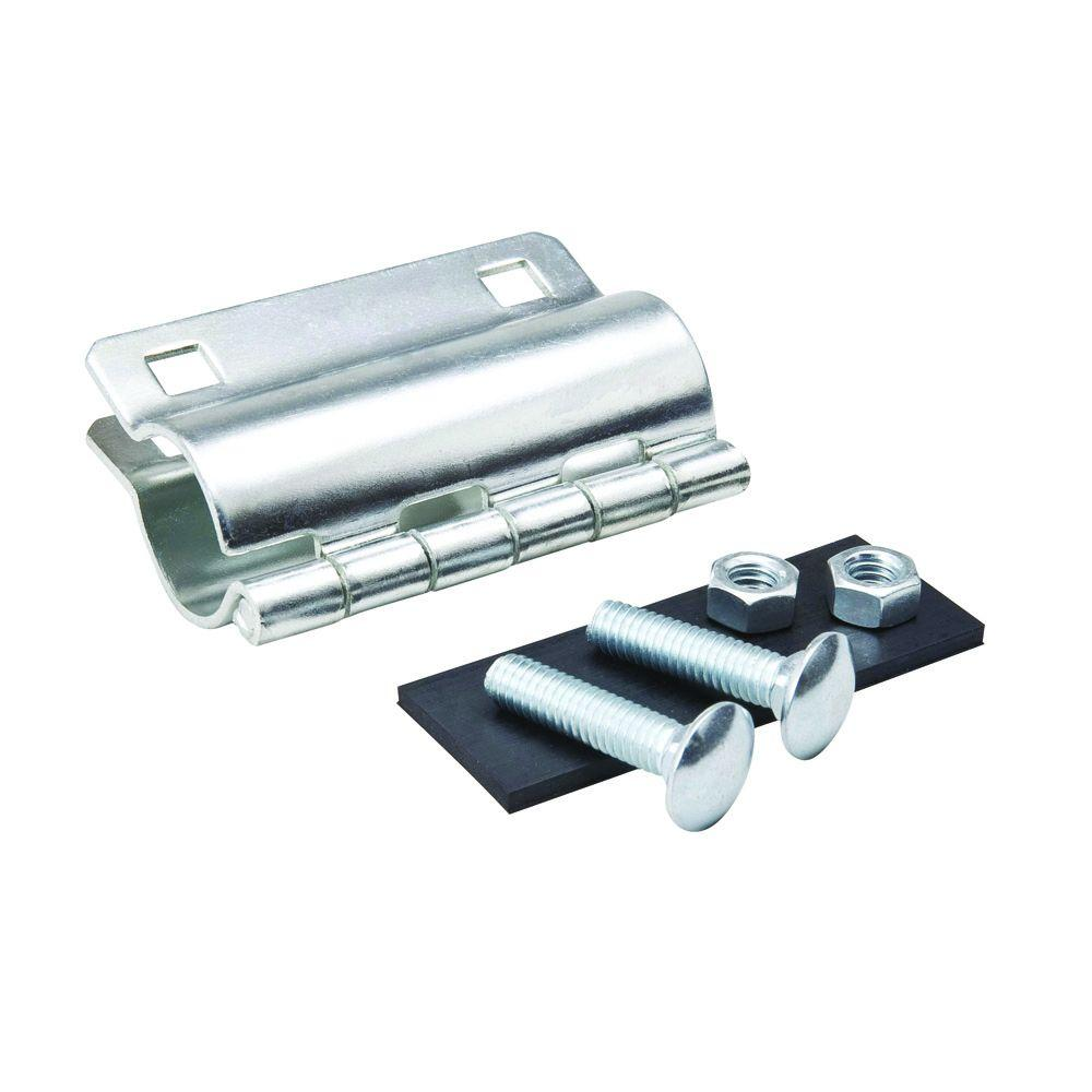 3 4 In Galvanized Repair Clamp 160 804 The Home Depot