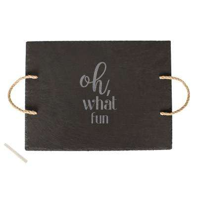 Oh What Fun Grey Slate Serving Board