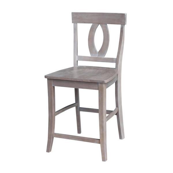 Verona 24 in. Weathered Taupe Gray Bar Stool