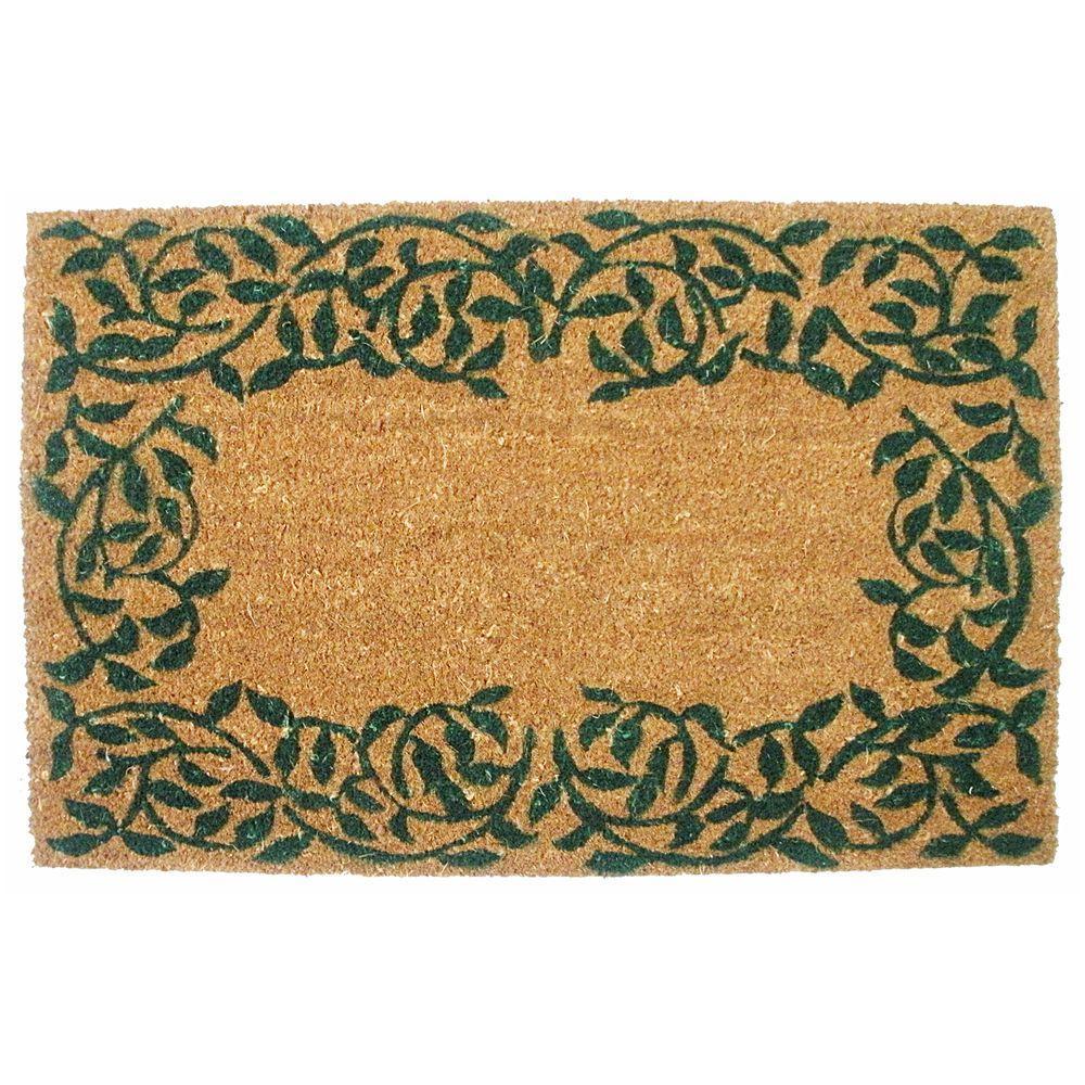 J & M Home Fashions Garden Ivy 19.5 in. x 29.5 in. Vinyl Back Coco Door Mat