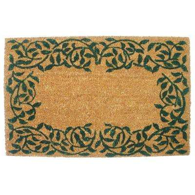 Garden Ivy 19.5 in. x 29.5 in. Vinyl Back Coco Door Mat