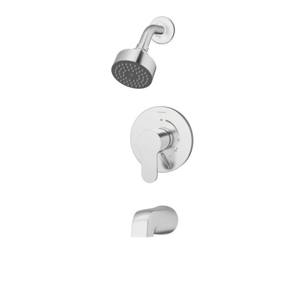 Identity 1-Handle Wall Mount Tub and Shower Faucet Trim Kit with Diverter Lever in Polished Chrome (Valve not Included)
