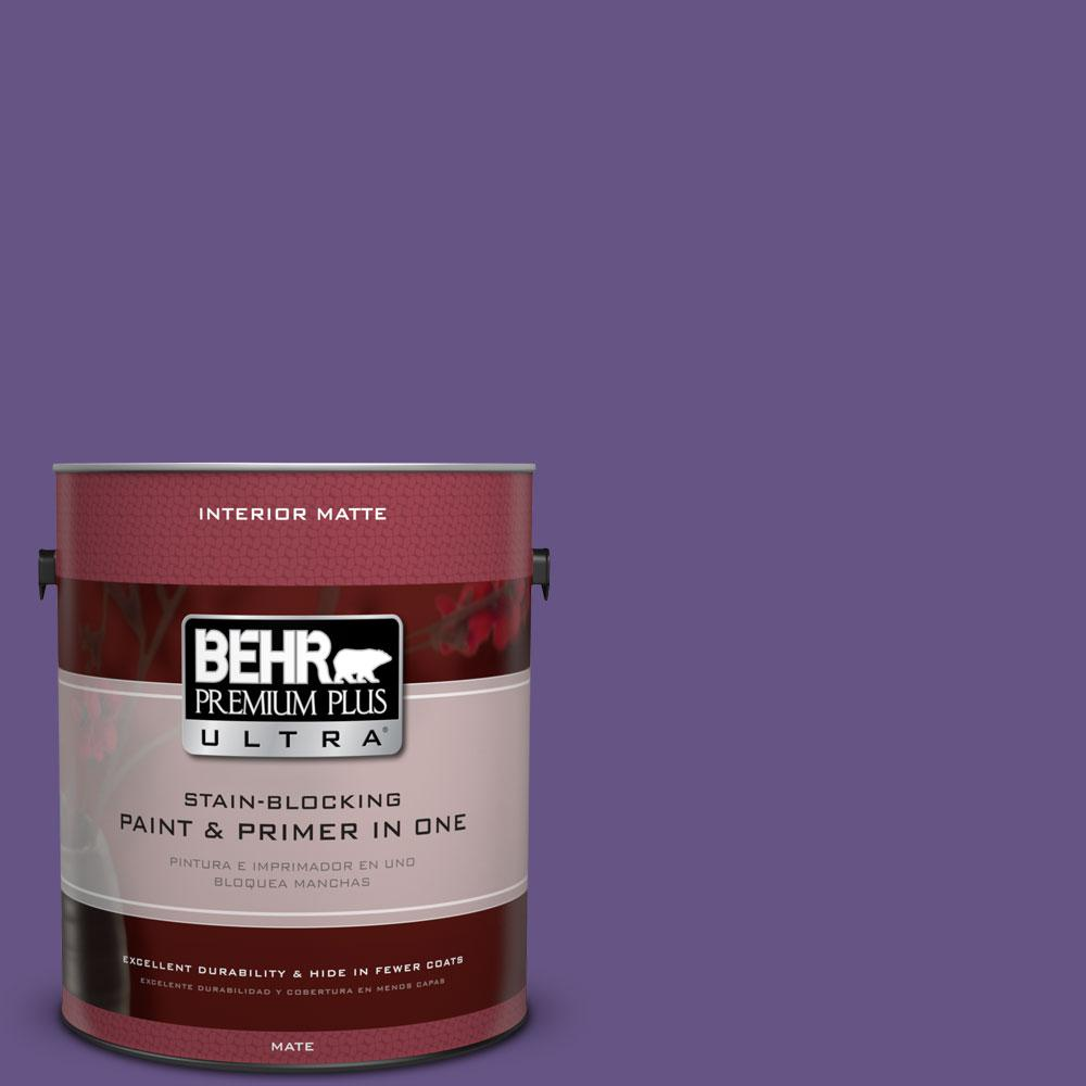 BEHR Premium Plus Ultra 1 gal. #640B-7 Berry Jam Flat/Matte Interior Paint