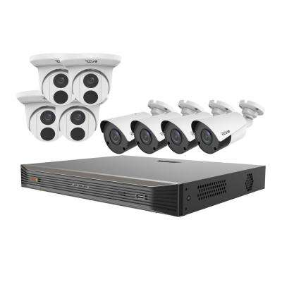 Ultra Commercial Grade 16-Channel 4K 3TB Smart NVR Surveillance System with 8 4K 8MP Indoor/Outdoor Cameras