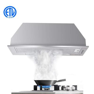 30 in. Insert Range Hood in Stainless Steel with Aluminum Filters LED Lights, Push Button Control
