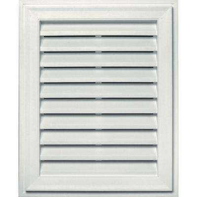 20 in. x 30 in. Brickmould Gable Vent in White