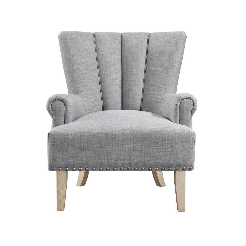 Fabulous Dorel Living Belvedere Gray Accent Chair Fh7201 Gr The Caraccident5 Cool Chair Designs And Ideas Caraccident5Info