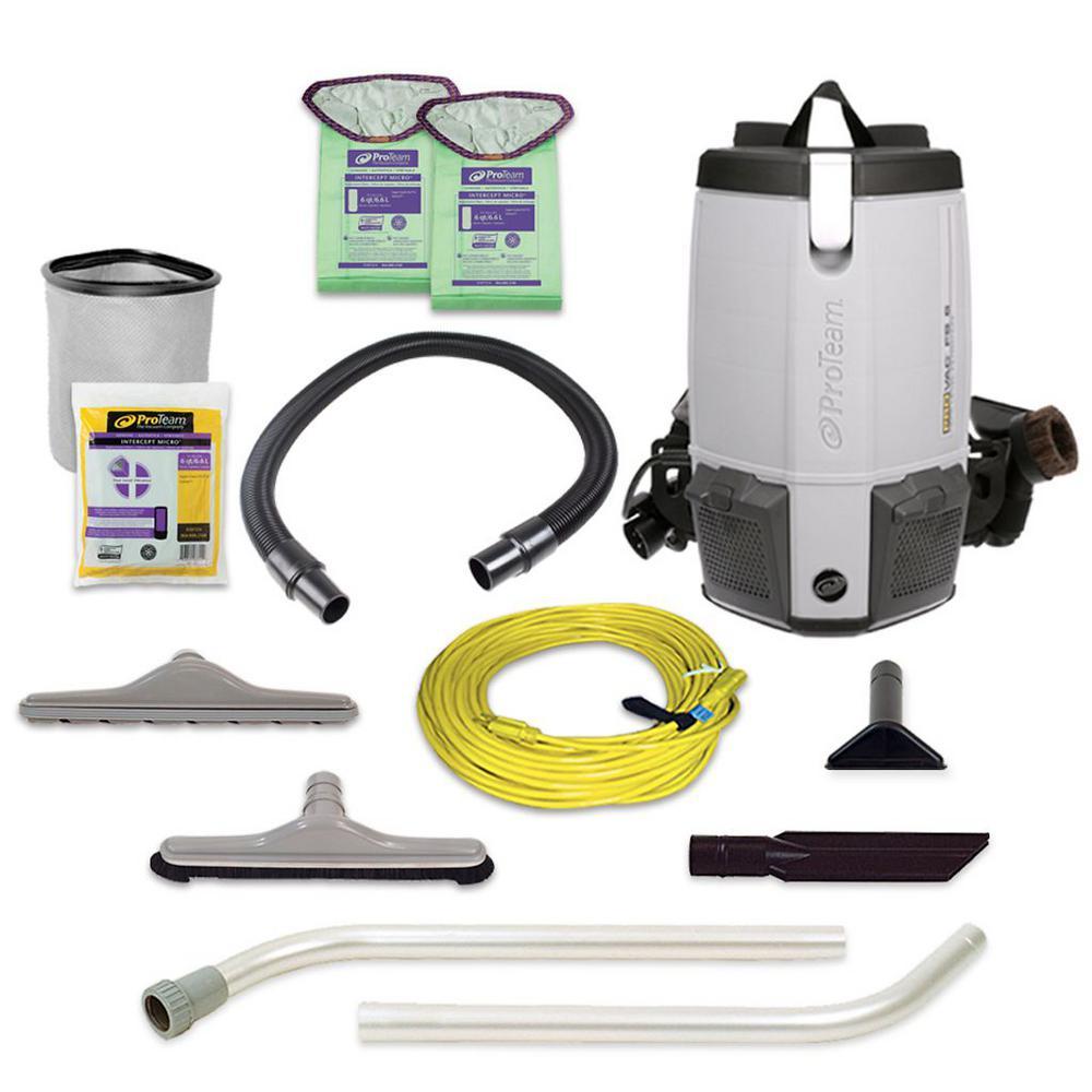 ProTeam ProVac FS 6 6 qt. Backpack Vac with Restaurant Tool Kit