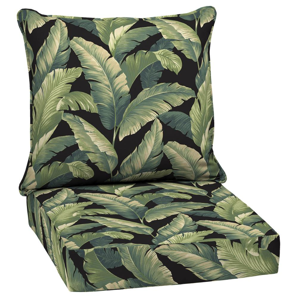 Arden Selections 24 in. x 24 in. Onyx Cebu Deep Seating Outdoor Lounge Chair Cushion