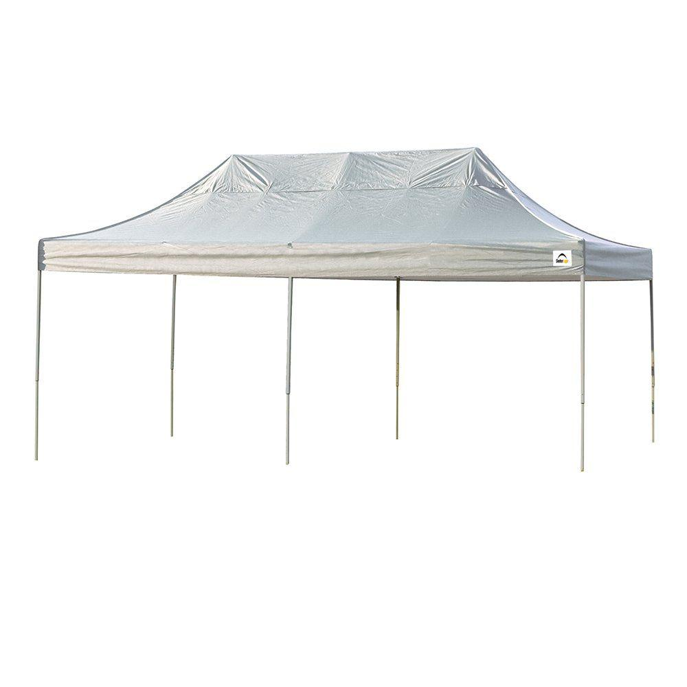 10 ft. x 20 ft. Straight Leg Pop-Up Canopy White Cover