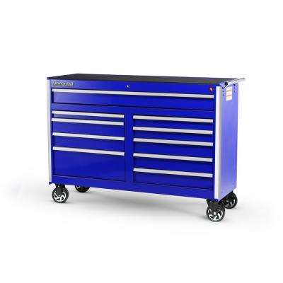 Tech Series 54 in. 10-Drawer Roller Cabinet Tool Chest Blue