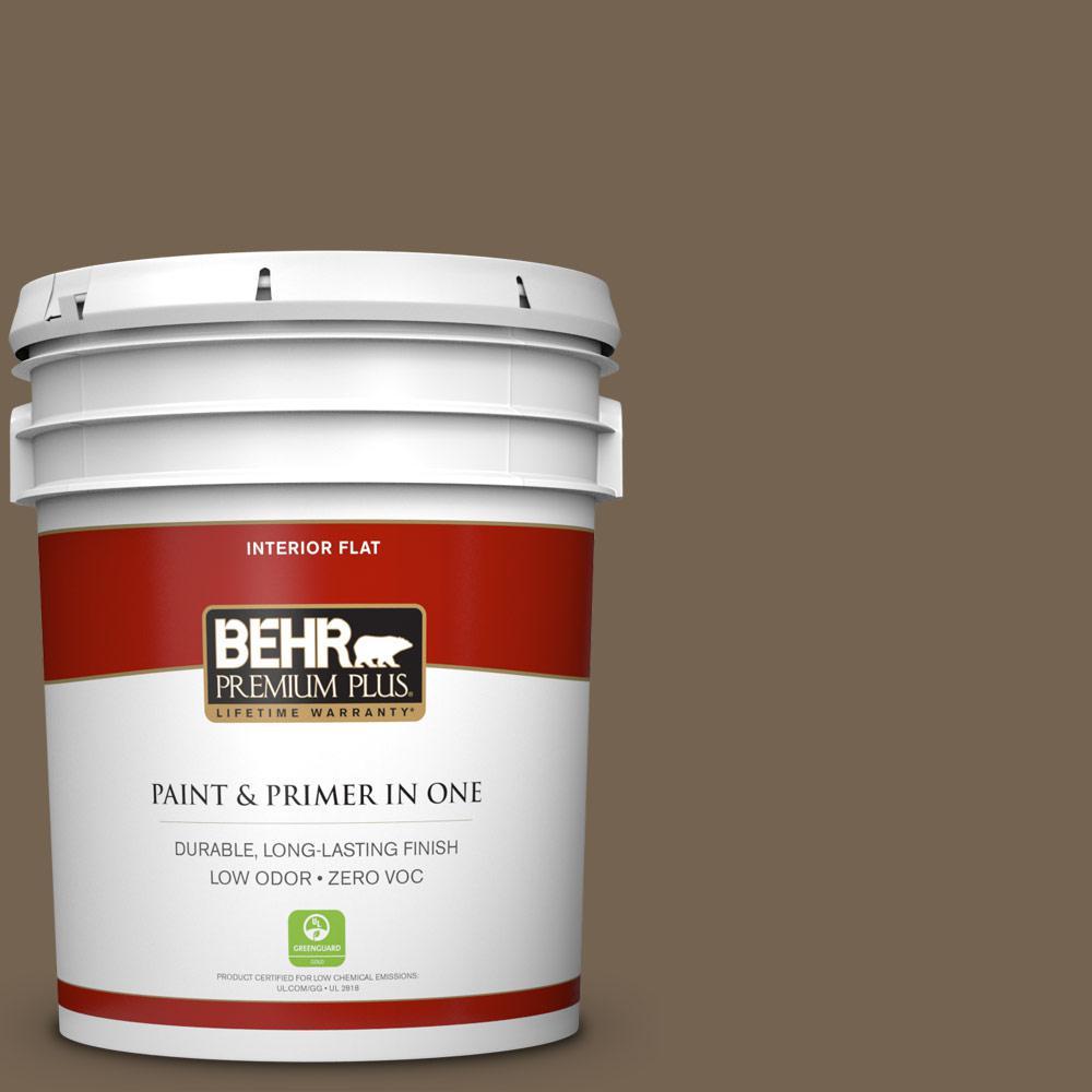 5 gal. #HDC-SM14-4 Tan Bark Trail Zero VOC Flat Interior Paint