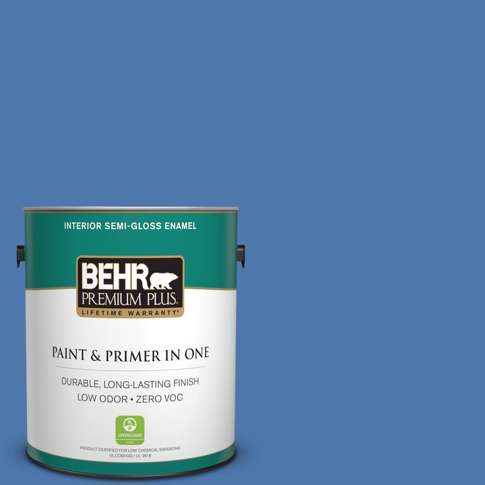 Home Decorators Collection 1 gal. #HDC-FL13-6 Baltic Blue Semi-Gloss Enamel Zero