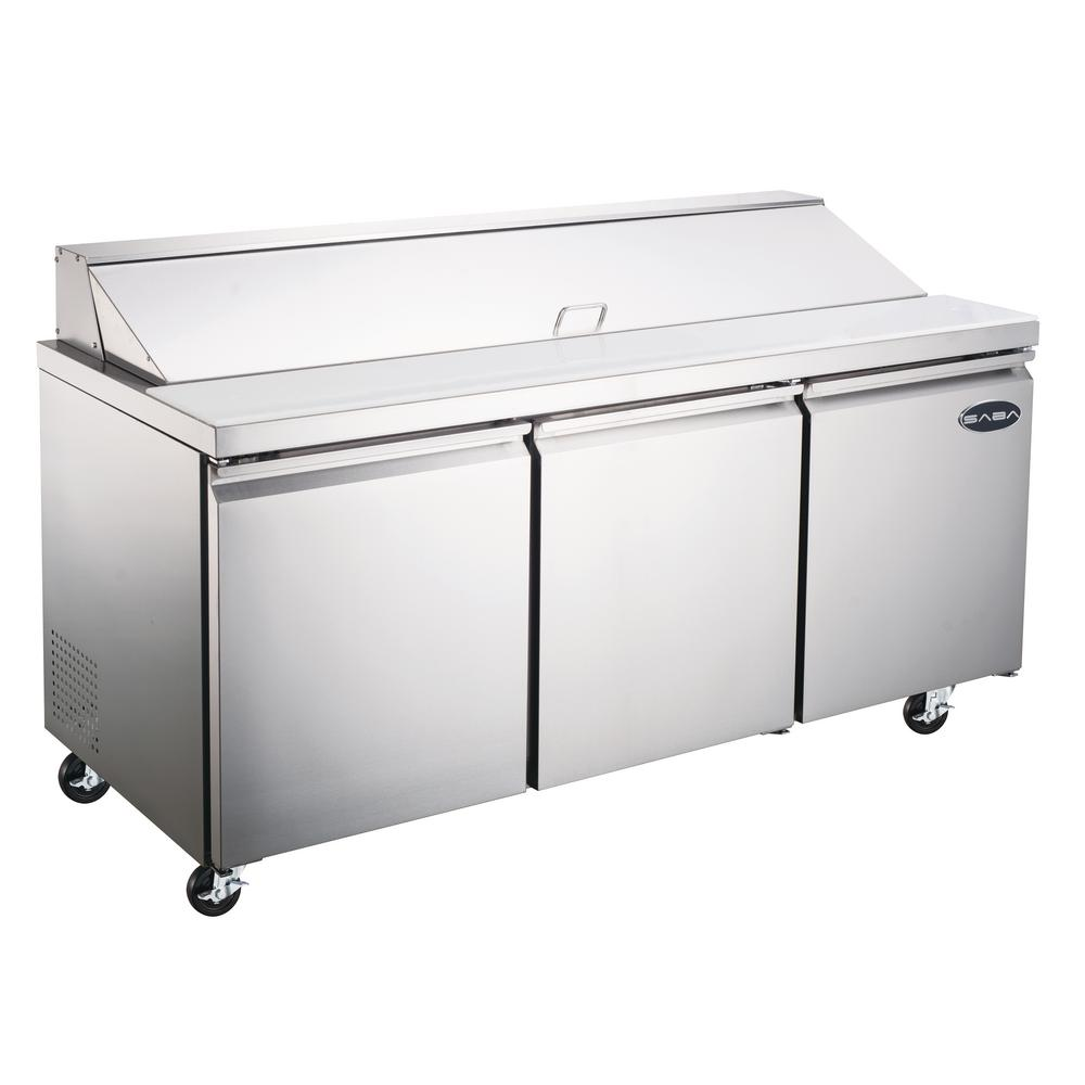 SABA In W Cu Ft Commercial Food Prep Table - Commercial prep table refrigerator