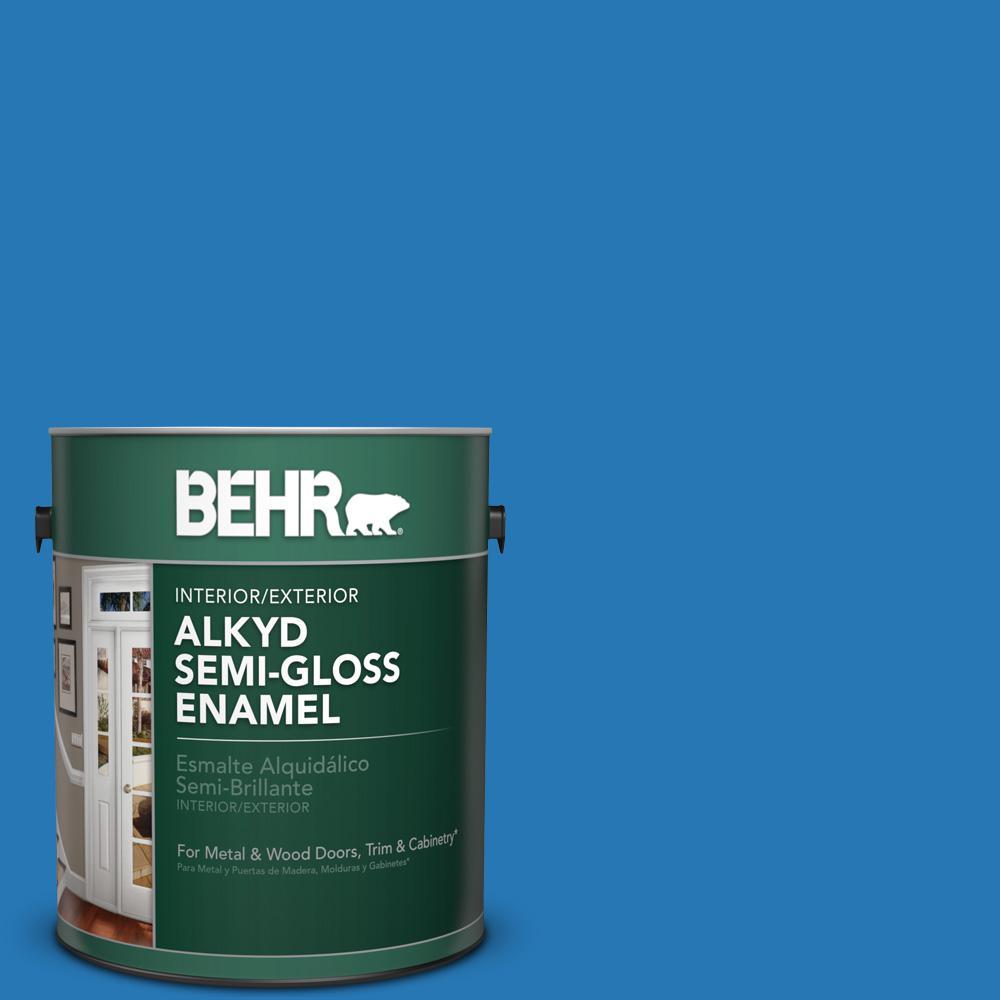 1 gal. #P500-6 Deep River Semi-Gloss Enamel Alkyd Interior/Exterior Paint