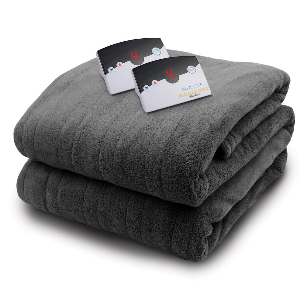 queen size blanket Biddeford Blankets 2033 Series Micro Plush Heated 84 in. x 90 in  queen size blanket
