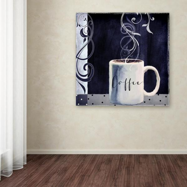 35 In X Cafe Blue I By Color Bakery Printed Canvas Wall Art