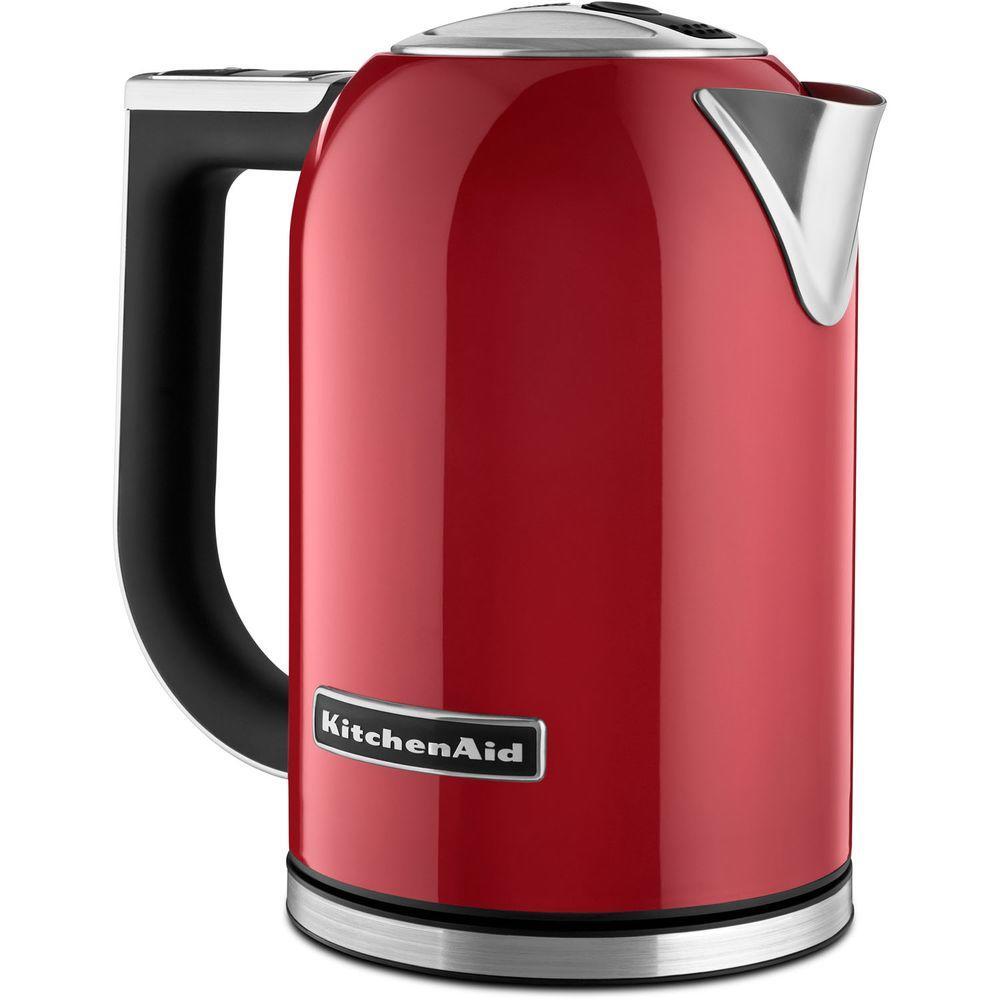 kitchenaid 7 cup electric kettle kek1722er the home depot. Black Bedroom Furniture Sets. Home Design Ideas