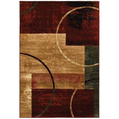 Grace Red 7 ft. 9 in. x 9 ft. 5 in. Plush Indoor Area Rug