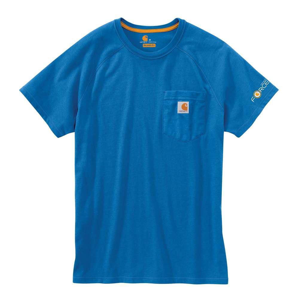 Force Delmont Men's Regular XXXX Large Cool Blue Cotton Short Sleeve T-Shirt