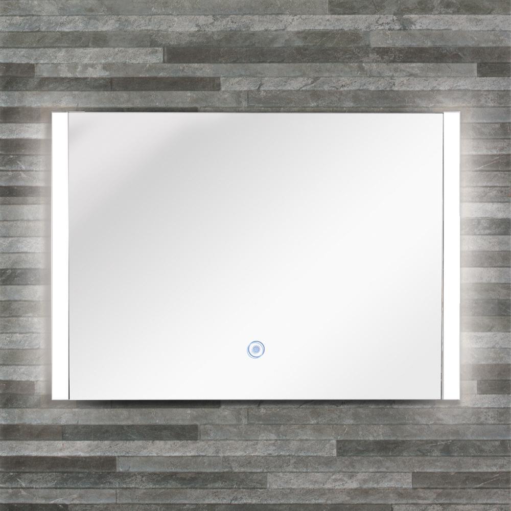 Ethan 35.43 in. x 24.02 in. Single Frameless LED Mirror