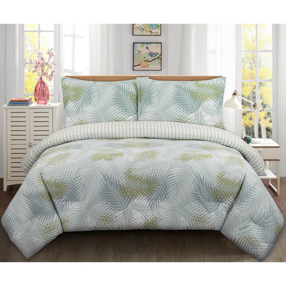 Palms Full/Queen Cotton Comforter Set