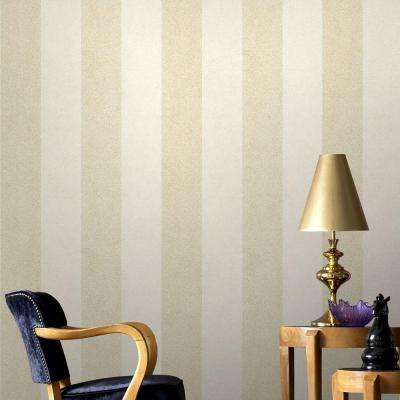 Oyster Artisan Stripe Wallpaper