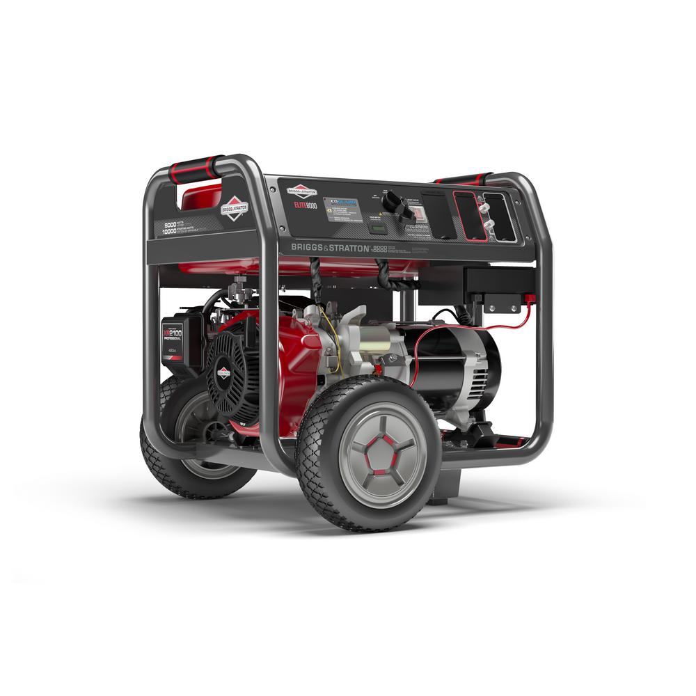 Briggs & Stratton Elite 8,000-Watt Gasoline Powered Key Electric Start Portable Generator with Briggs & Stratton OHV Engine
