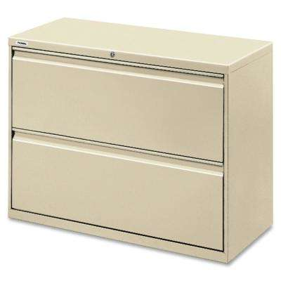 2-Drawer Putty Lateral File with Security Lock