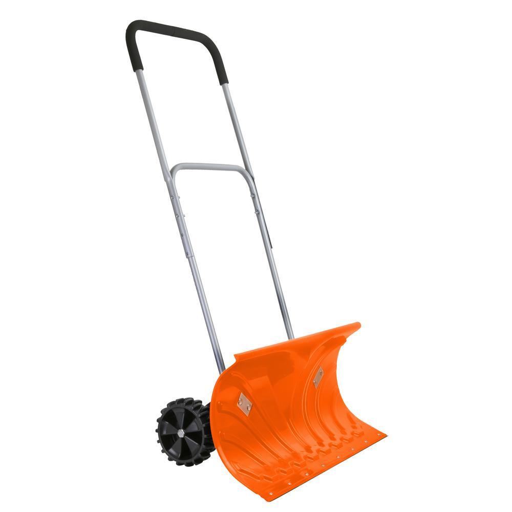 26 in. Rolling Snow Pusher/Shovel