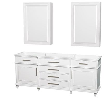 Berkeley 80 in. Double Vanity with Medicine Cabinets in White