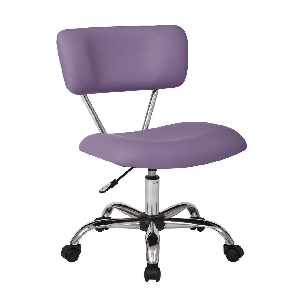 Vista Purple Task Office Chair